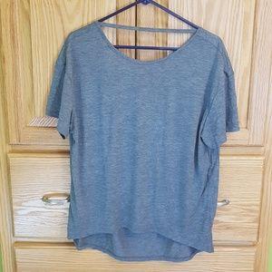 NWOT Alternative Apparel Grey Open Back T